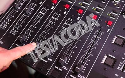 Audio Mixer Fader Operating