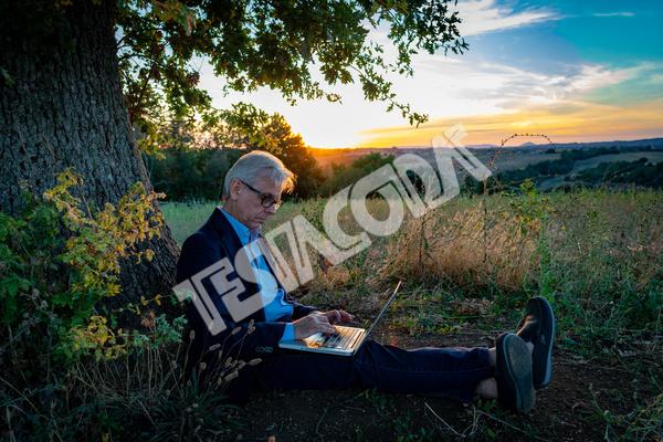 Senior Businessman under the Magic Tree