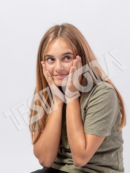Young Sly Amazed Girl