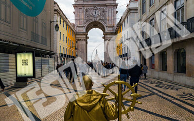 Golden Helmsman in Lisbon