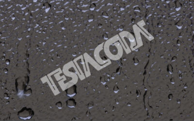 Rain drops dripping onto a window pane (w/ sound)