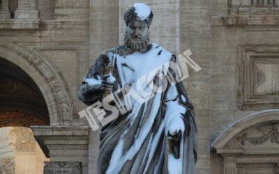 Snow on St Peter, Rome