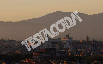 Timelapse of Sunrise over ancient Rome from Hilton hill