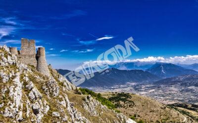 Ancient castle of Rocca Calascio, L'Aquila, Italy