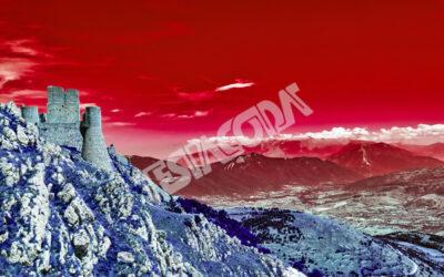 Horror castle in Rocca Calascio, l'Aquila, Italy