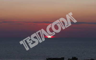 Motion Timelapse of sunset over Calabria's sea
